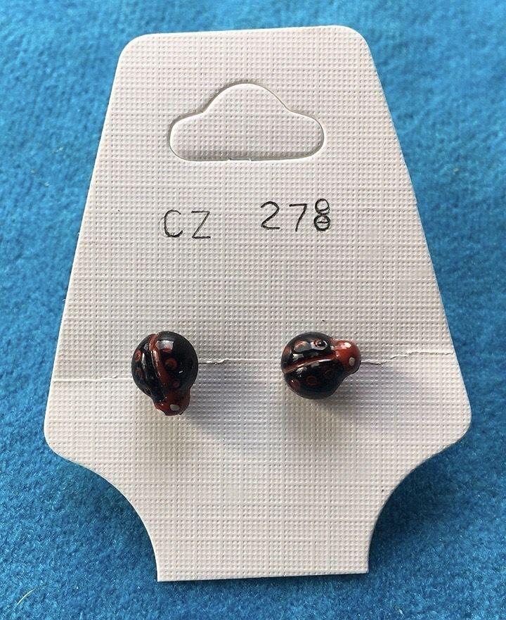 Orecchini Coccinelle Nere CZ278