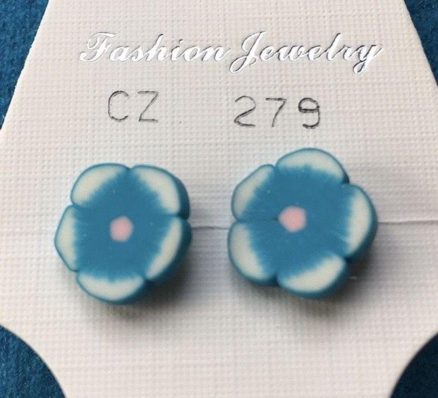 Orecchini Fiori Azzurri CZ279