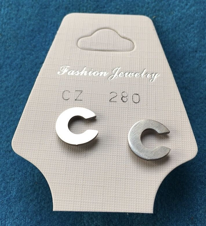 Orecchini Lettere C CZ280