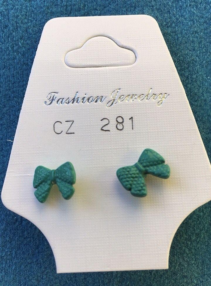 Orecchini Fiocchetti Verdi CZ281
