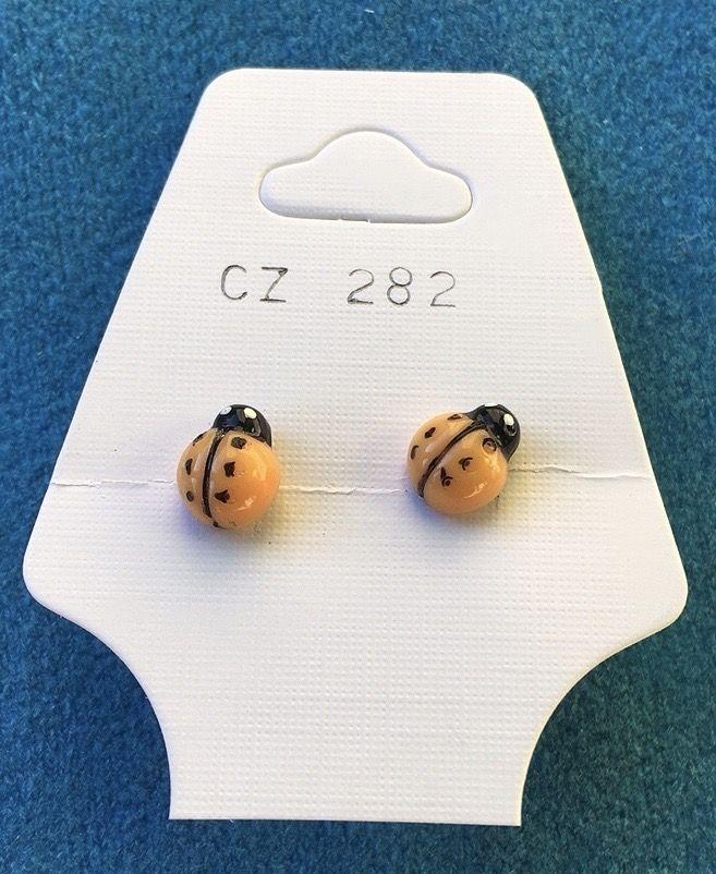Orecchini Coccinelle Gialle CZ282