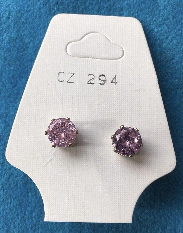 Orecchini Cristalli Rosa CZ294