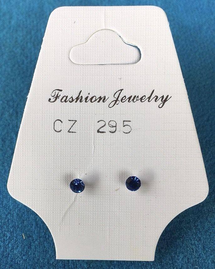 Orecchini Cristalli Blu CZ295