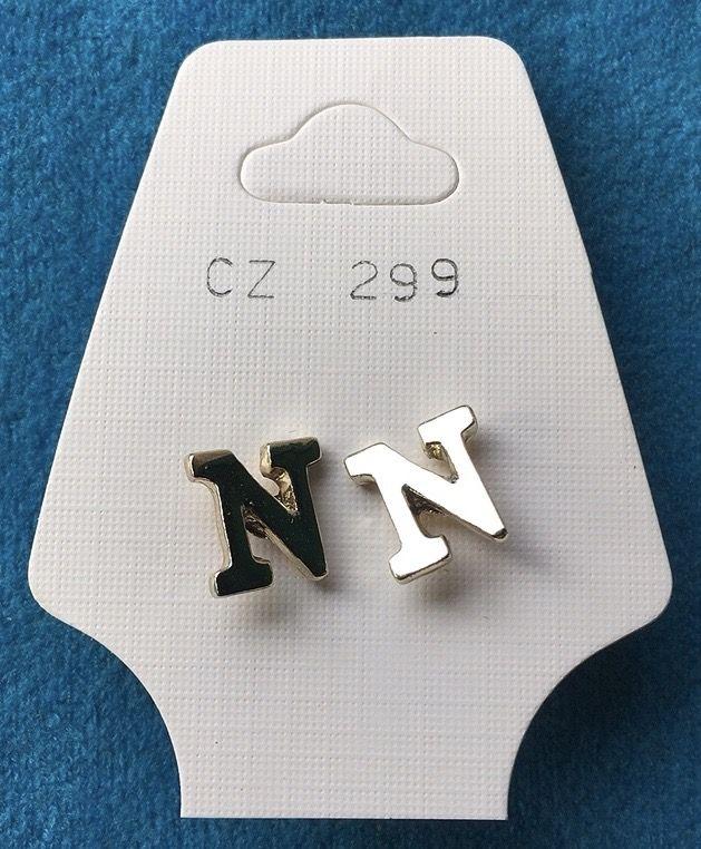 Orecchini Lettere N CZ299