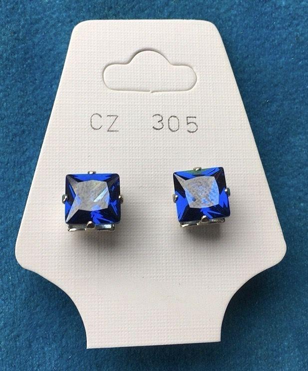 Orecchini Cristalli Blu CZ305