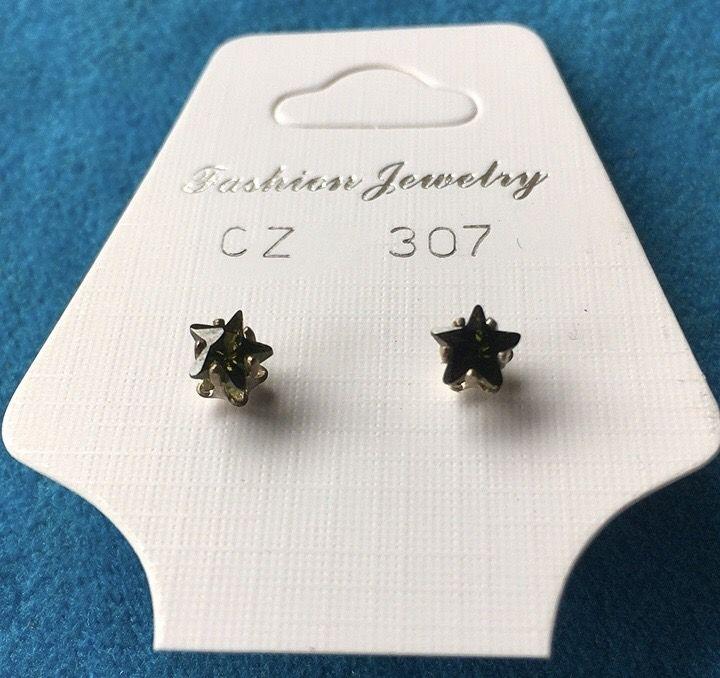 Orecchini Cristalli Neri CZ307