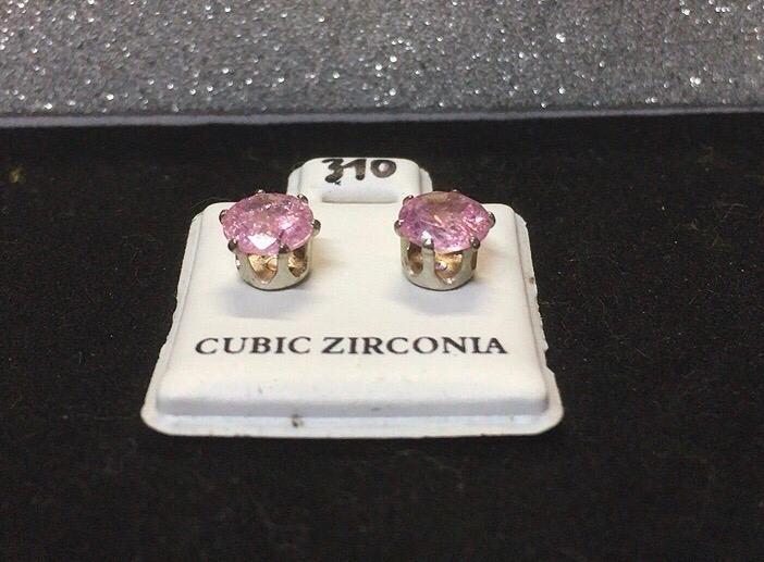 Orecchini Cristalli Rosa CZ310