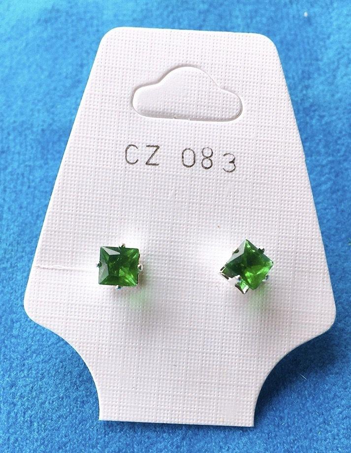 Orecchini Cristalli Verdi CZ083