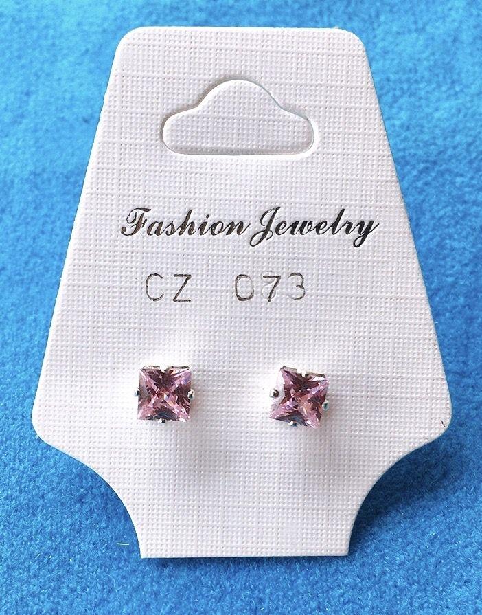 Orecchini Cristalli Rosa CZ073