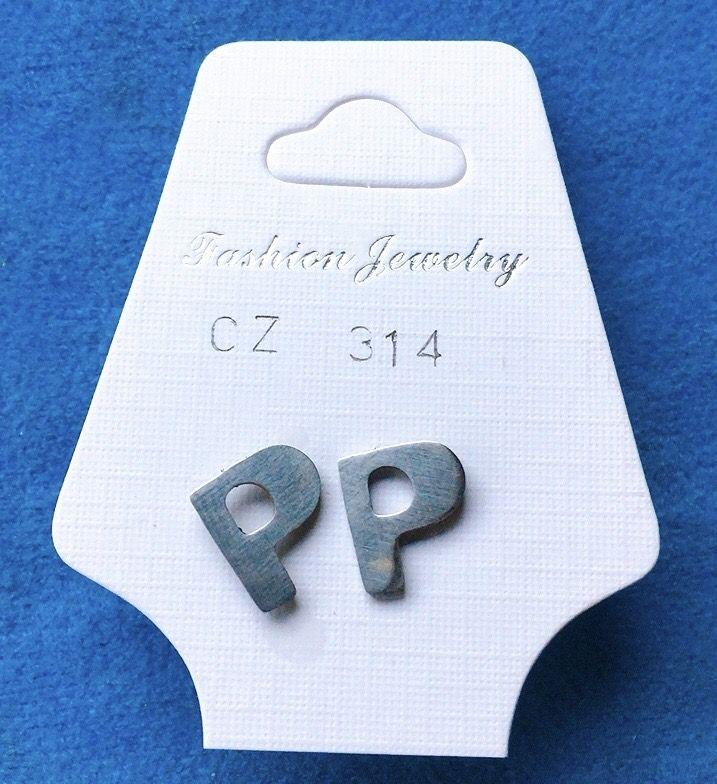 Orecchini Lettere P CZ314