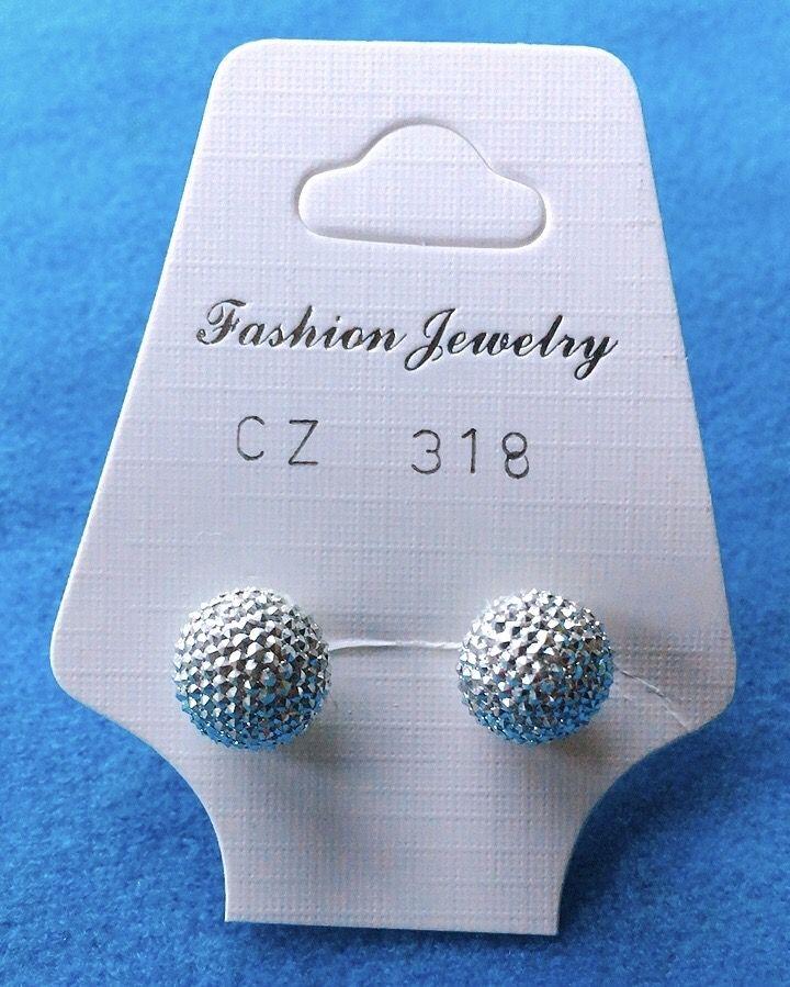 Orecchini Palline Diamantate CZ318