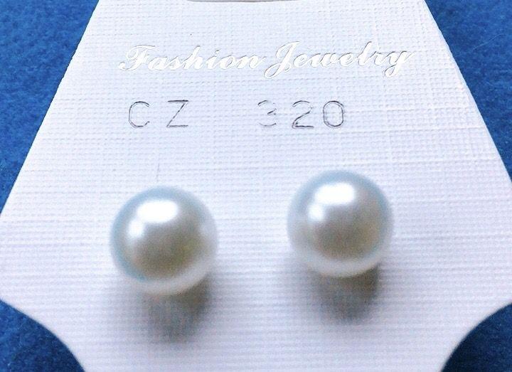 Orecchini Perle Bianche CZ320