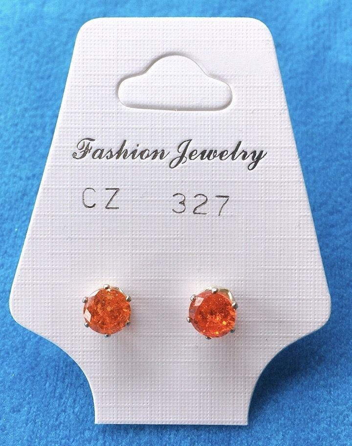 Orecchini Cristalli Arancio CZ327