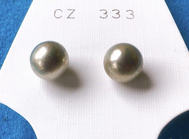 Orecchini Palline Argentate CZ333