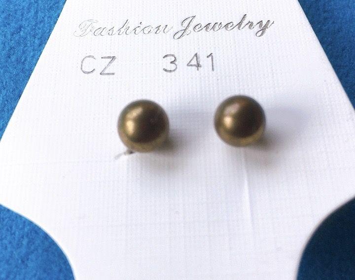 Orecchini Palline Dorate CZ341