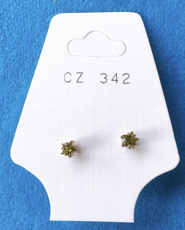 Orecchini Cristalli Verdi CZ342