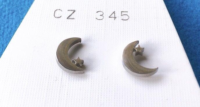 Orecchini Luna Stella CZ345