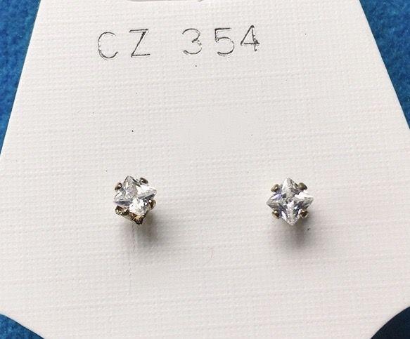 Orecchini Cristalli Bianchi CZ354