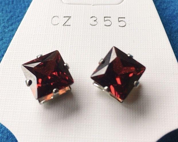 Orecchini Cristalli Verdi CZ355