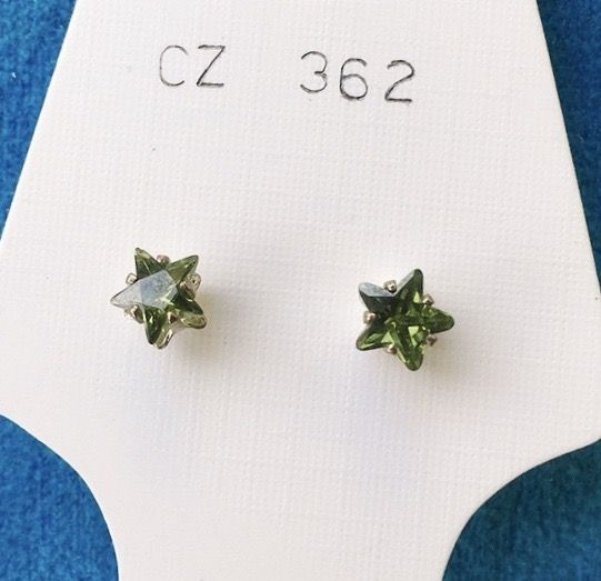 Orecchini Cristalli Verdi CZ362