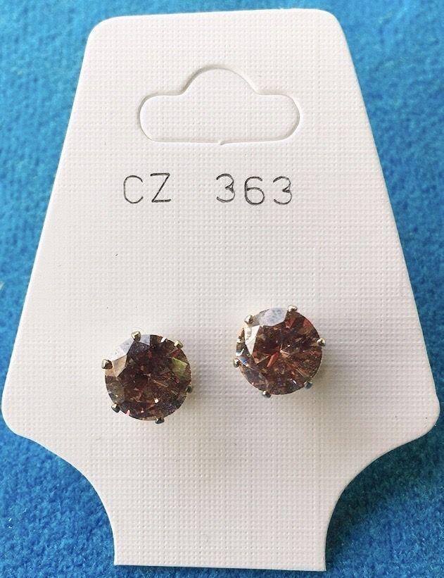 Orecchini Cristallo Beige CZ363