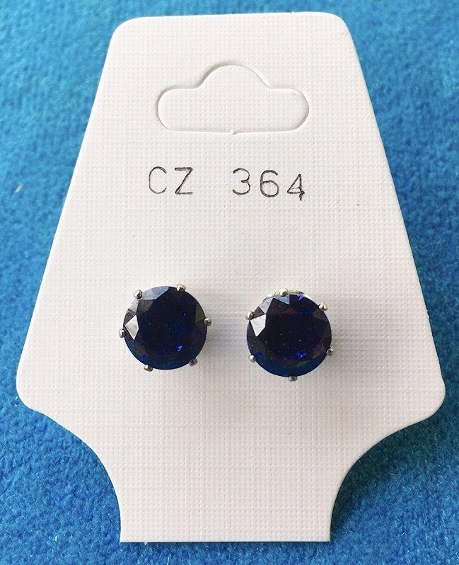Orecchini Cristalli Blu CZ364