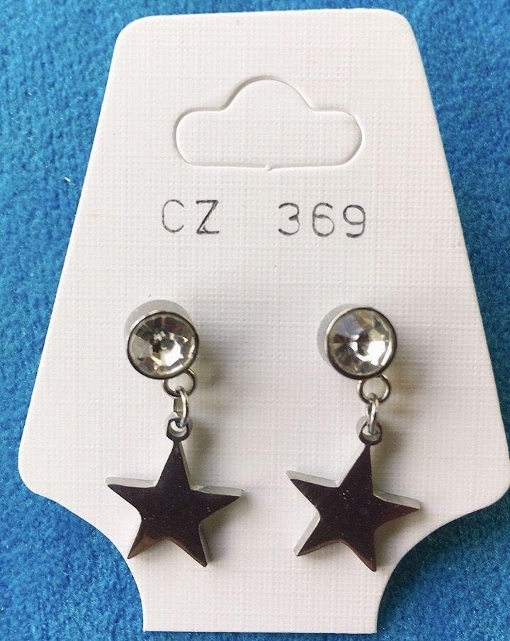 Orecchini Cristallo e Stella CZ369