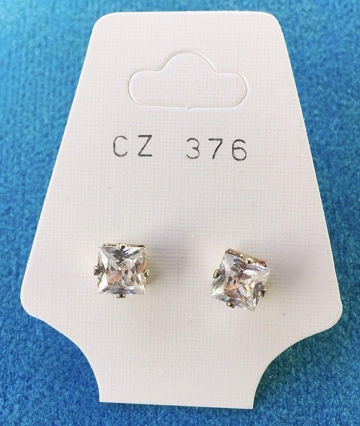 Orecchini Cristalli Bianchi CZ376