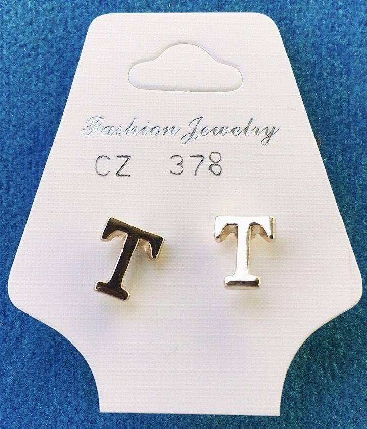 Orecchini Lettere T CZ78