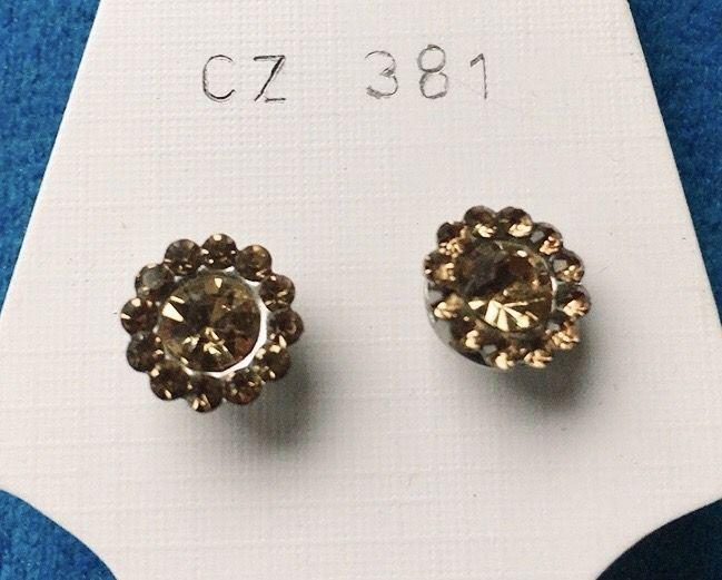 Orecchini Cristalli Gialli CZ381