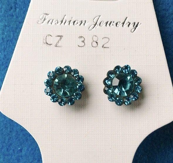 Orecchini Cristalli Azzurri CZ382