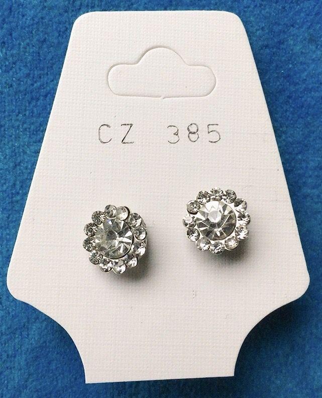 Orecchini Cristalli Bianchi CZ385