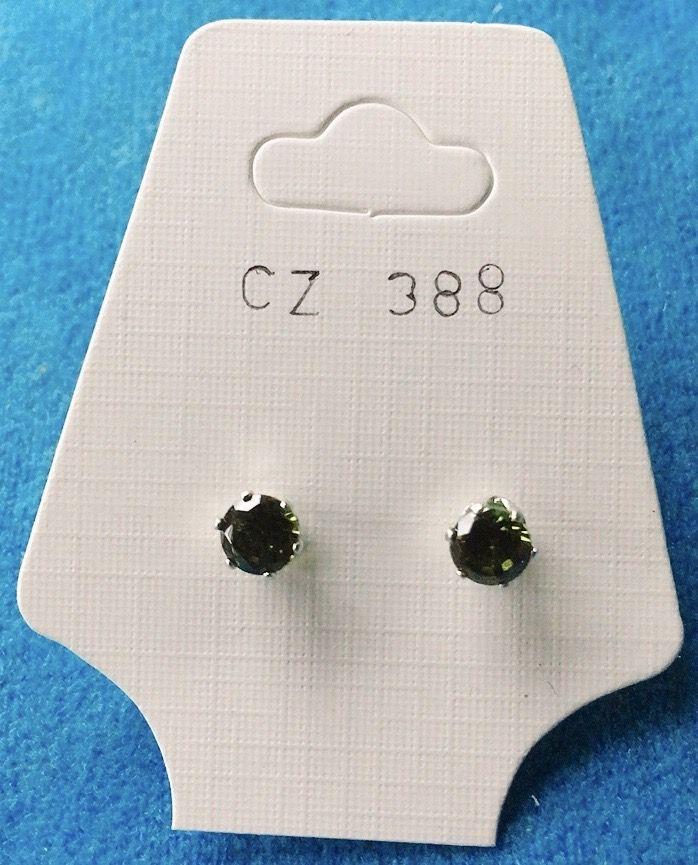 Orecchini Cristalli Verdi CZ388