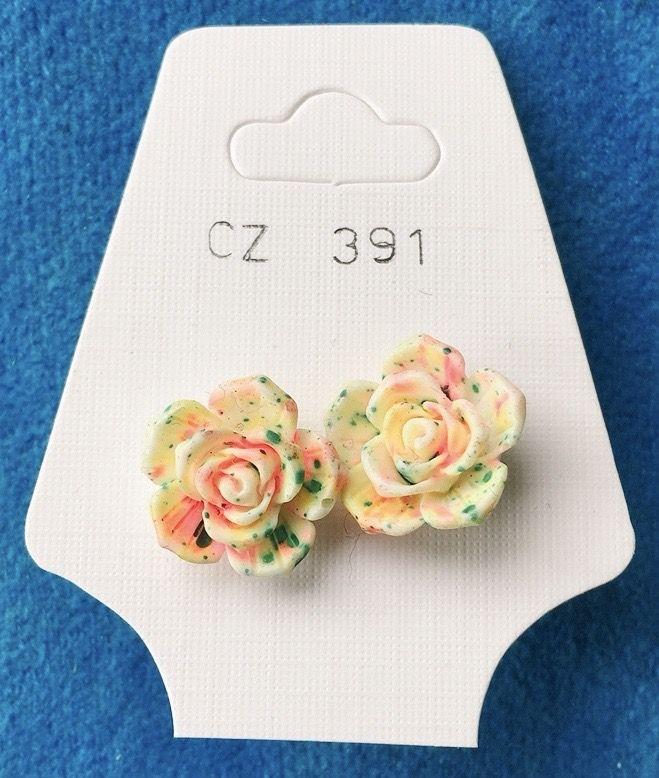 Orecchini Rose Fimo CZ391