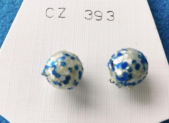 Orecchini Palline sfaccettate CZ393