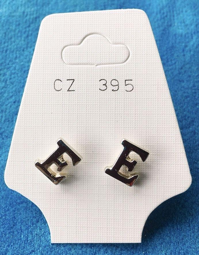 Orecchini Lettere E CZ395