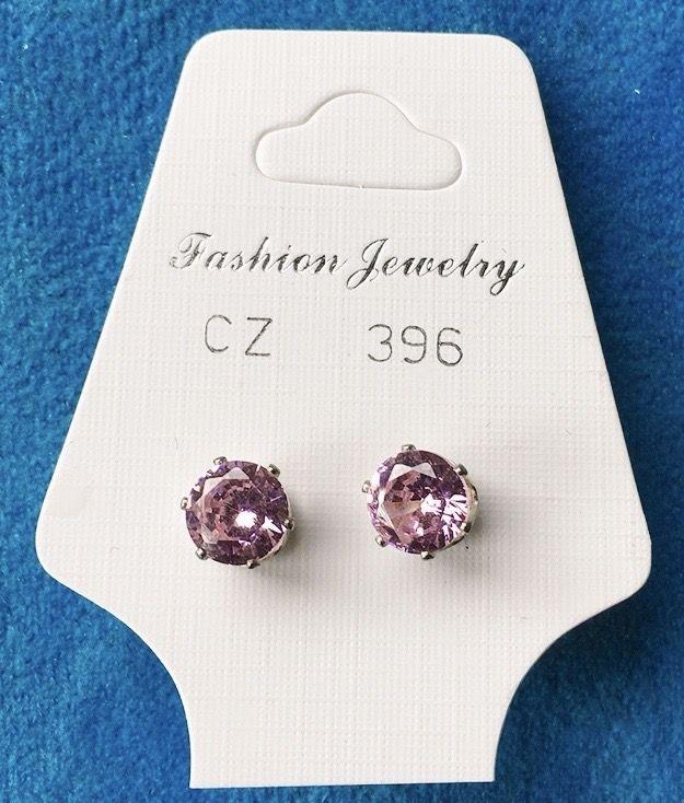 Orecchini Cristalli Rosa CZ396