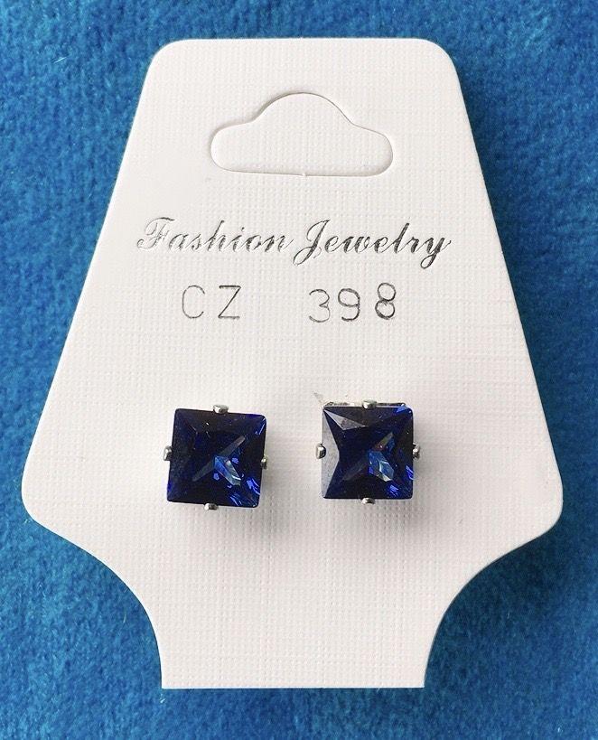 Orecchini Cristalli Blu CZ398
