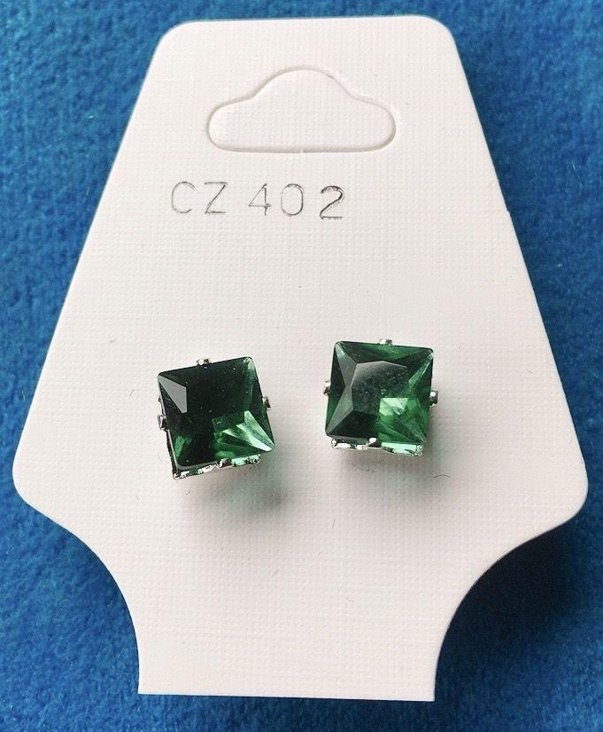 Orecchini Cristalli Verdi CZ402