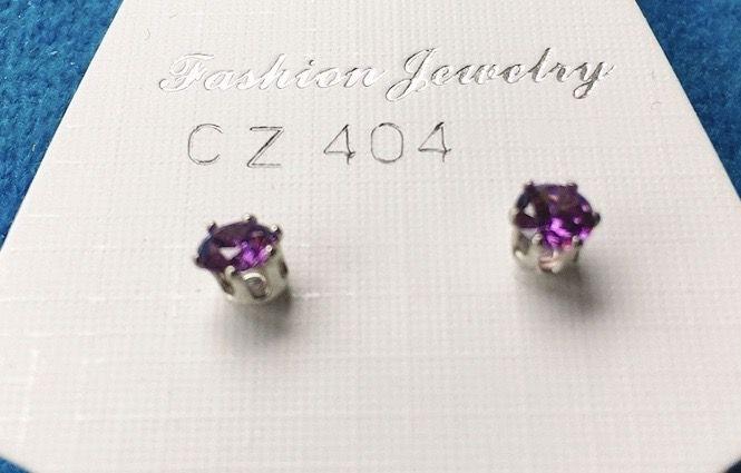 Orecchini Cristalli Viola CZ404