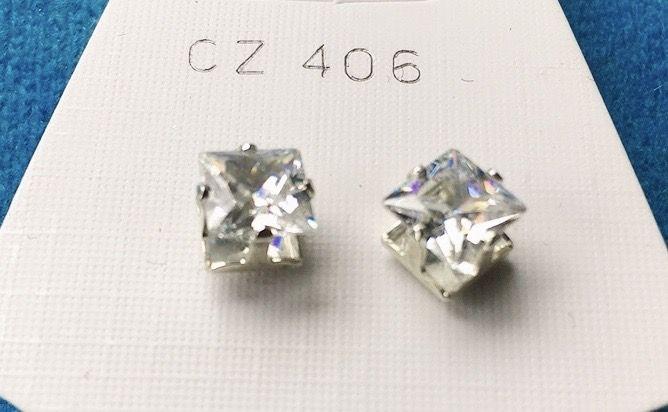 Orecchini Cristalli Bianchi CZ406