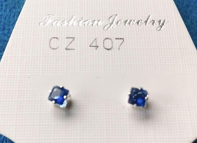 Orecchini Cristallo Blu CZ407