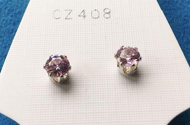 Orecchini Cristalli Rosa CZ408