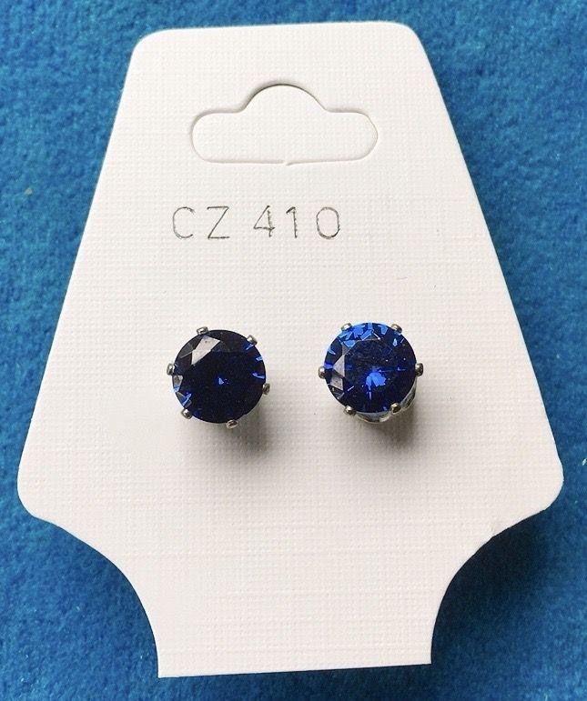 Orecchini Cristalli Blu CZ410
