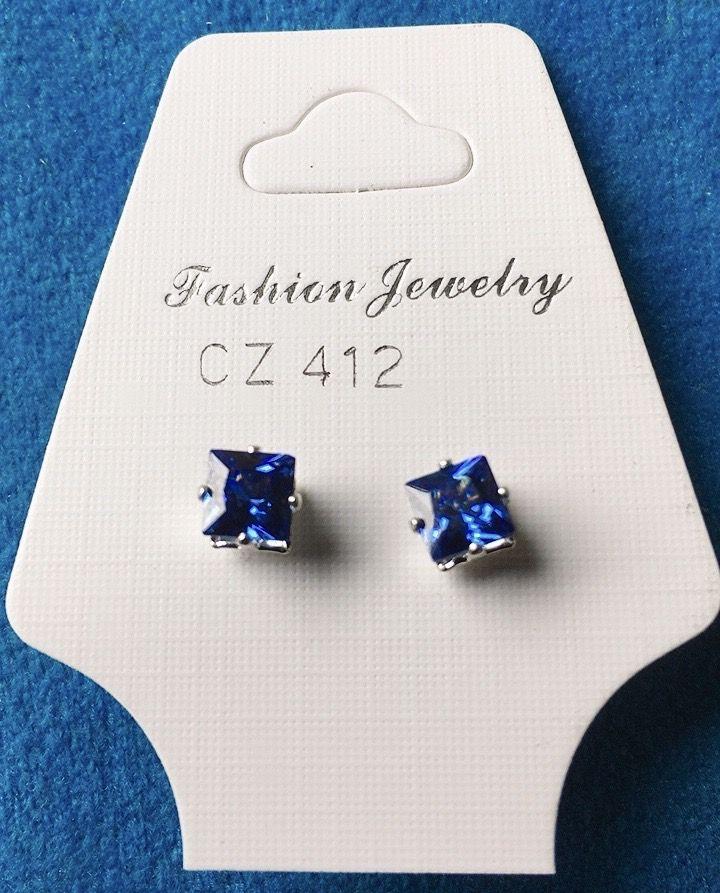 Orecchini Cristalli Blu CZ412