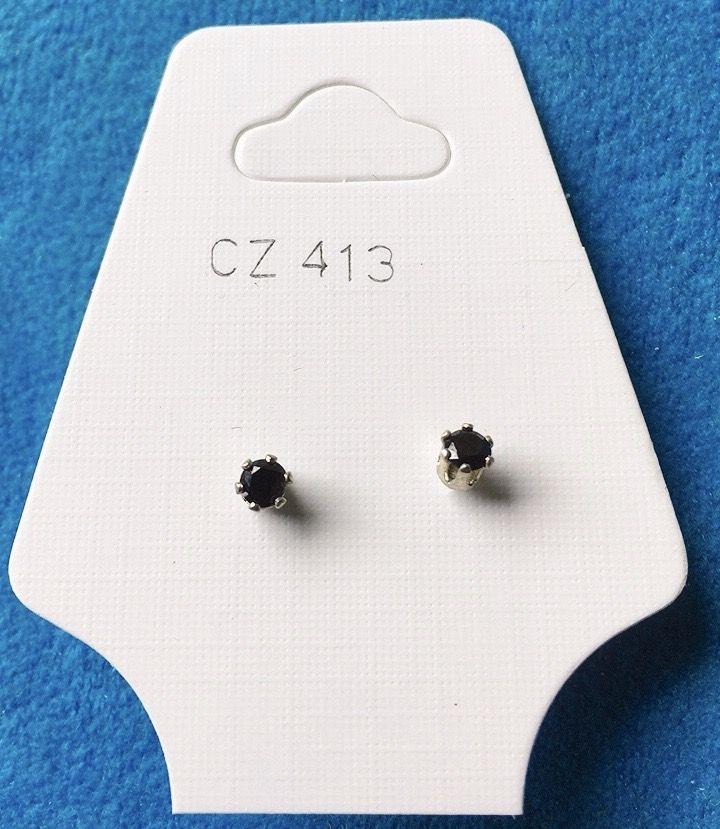 Orecchini Cristalli Neri CZ413
