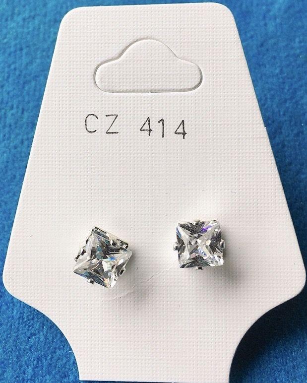 Orecchini Cristalli Bianchi CZ414