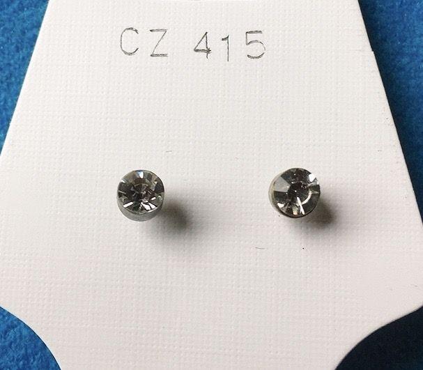 Orecchini Cristalli Bianchi CZ415