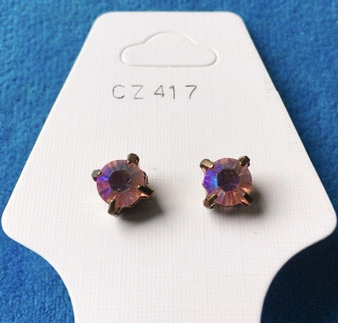 Orecchini Cristalli Rosa CZ417