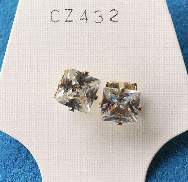Orecchini Cristalli Bianchi CZ432